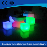 Garden decoration colorful led cube with rgb lighting cubes glow furniture