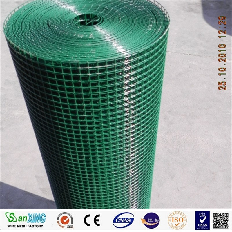 "Anping Sanxing hot sale 1/2"" square PVC Coated Welded Wire Mesh/Mesh Fence"