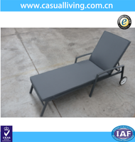 Outdoor aluminum poly wood garden furniture /chaise lounge chair