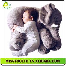 2016 New Design Soft Elephant Cushion Stuffed Baby Animal Pillow Factory