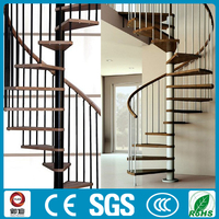 factory quality pvc handrail spiral stairs design