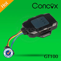 Professional Concox Direct Manufacture Inexpensive Small Dimension GT100 Motorcycle IP56 GPS Tracker with Trouble Shooting