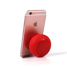 Waterproof Mini Wireless Bluetooth Speaker/Micro USB Slot Mushroom Silicone Suction Cup
