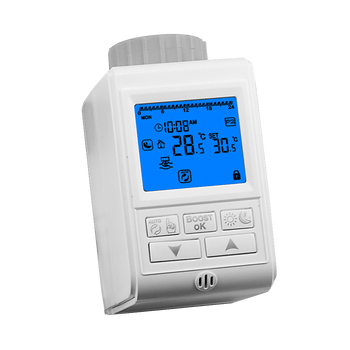 Programmable radiator thermostatic valve temperature controller