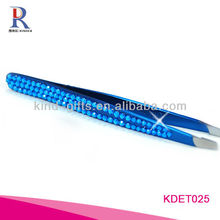 Professional Beautiful Girls Bling Crystal Point Tweezers Manufactory
