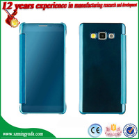 Mirror PU leather Bumper Chrome Case Cover For Samsung