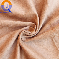 China direct 100 polyester suede fabric synthetic leather suede bonded faux fur fabrics for Home Textile and sofa