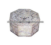 marble carving boxes Natural Soapstone Hand carved High Quality Keepsake Box