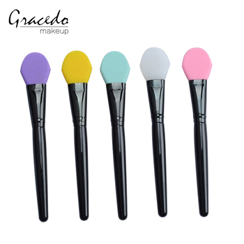 5 pcs personalized gift silicone face makeup brush set