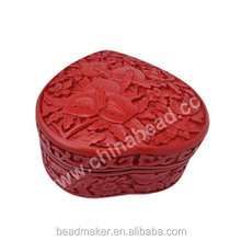 Cinnabar Box,Red, Customized Antique Cute Jewelry Boxes Manufacturers Imported For Jewelry