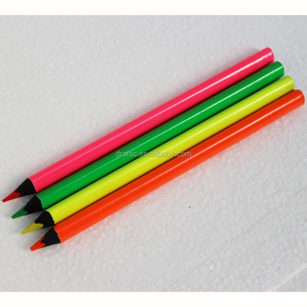 Jumbo size neon pencils,colouring pencils,jumbo pencils