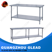 High quality different types stainless steel work table with top shelf