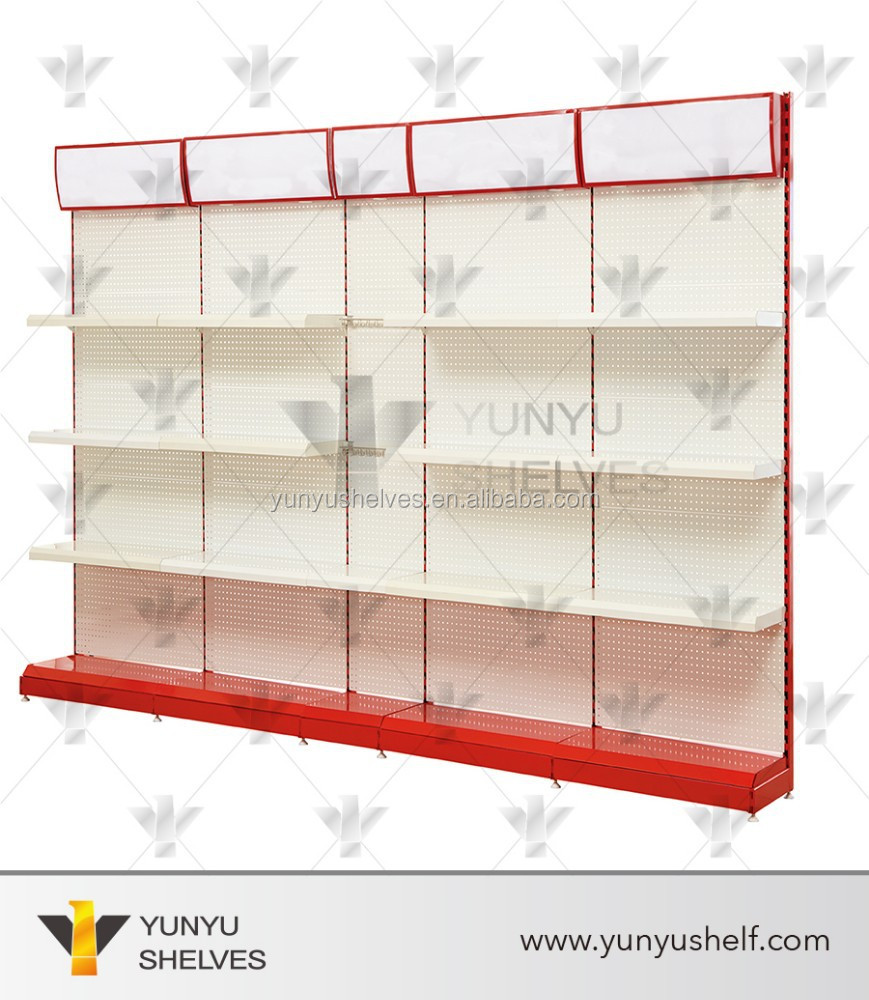 Single face appliance display shelf