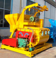 Electrical JS500 concrete mixer with hopper lifting