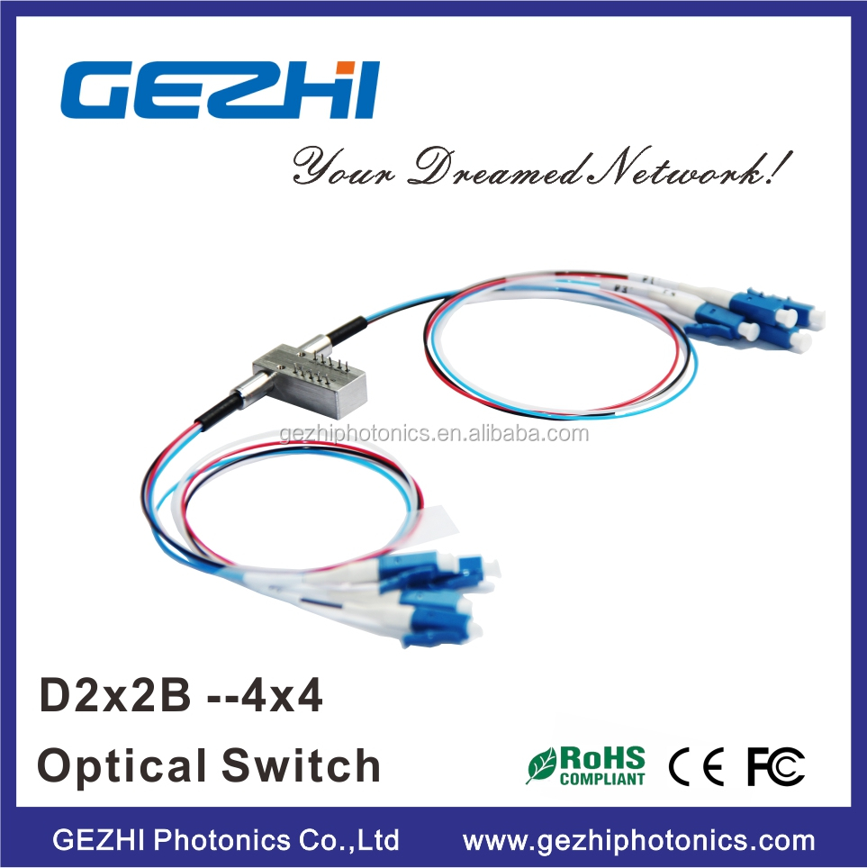 Transmitter and receiver protection D2x2 Bypass mechainical optical Switch --- 4x4 H Type