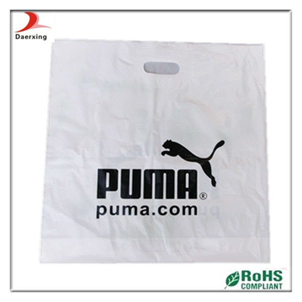 top quality logo printing plastic bag with handle