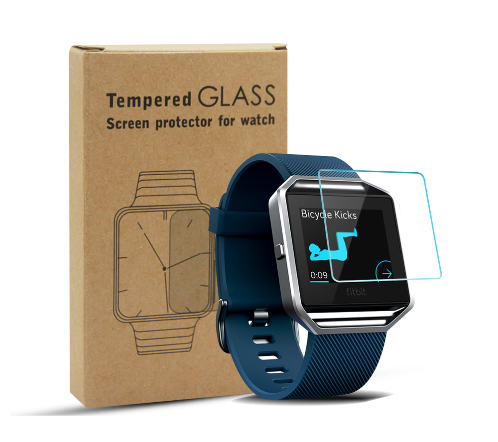 9H Slim Tough Tempered Glass Screen Protector for Fitbit Surge Fitness Watch Arc Edge Anti-explosion