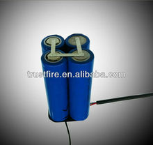trustfire 18650 3.7v battery pack 4*18650 battery pack for electric bicycle china suppliers