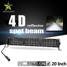 252w 20 inch 4D ip67 dual row offroad led light bar with double bolt fixation