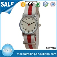 Japan movt stainless steel back quality water resistant feature nylon watch
