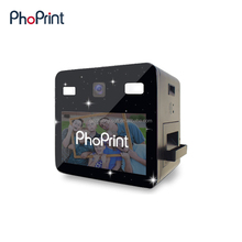 Best selling for different color printing postcard photos with company LOGO photo booth from ins software