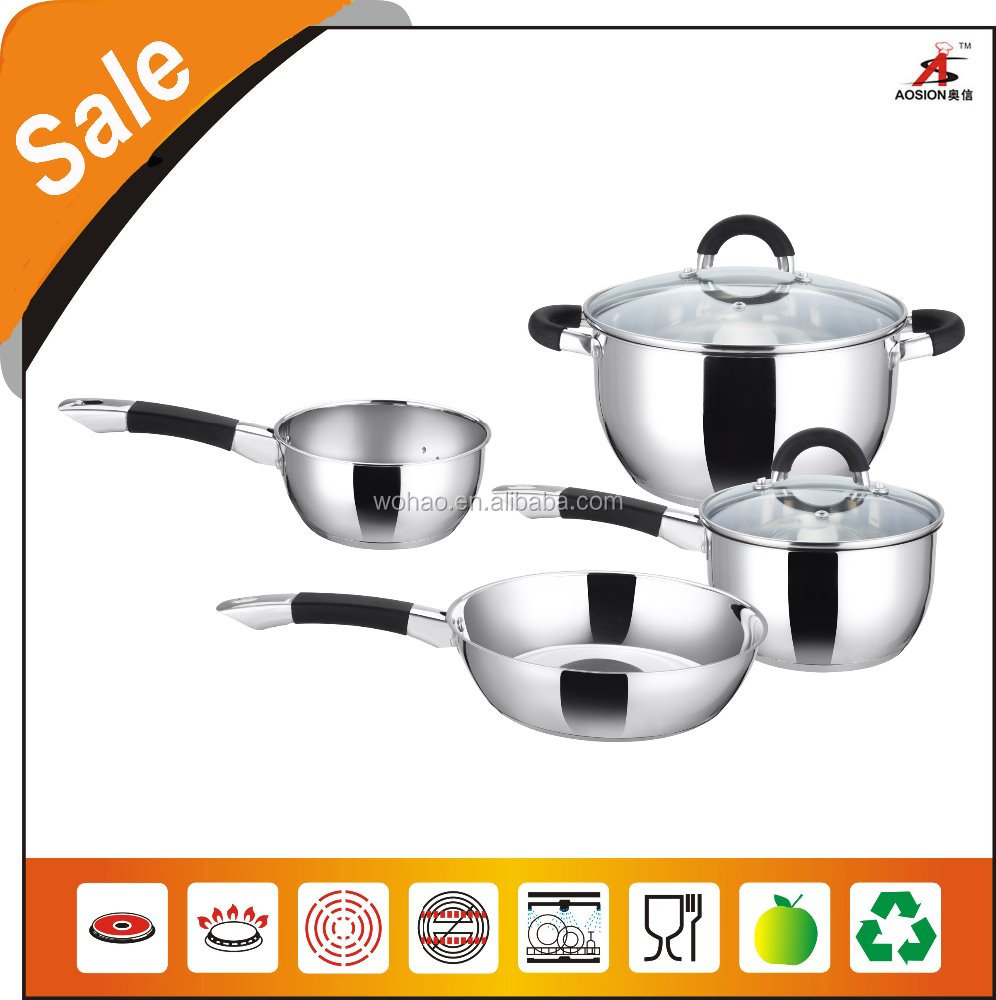2016 new product 6pcs stainless steel sauce pot