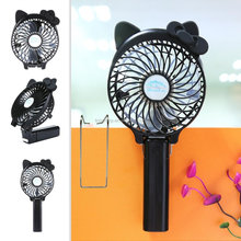 Handheld Foldable Cooling Usb Battery Rechargeable Cartoon Mini Fan