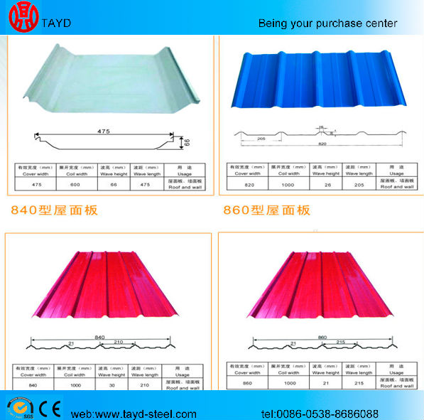 metal color coated Curve wave Roofing Sheets