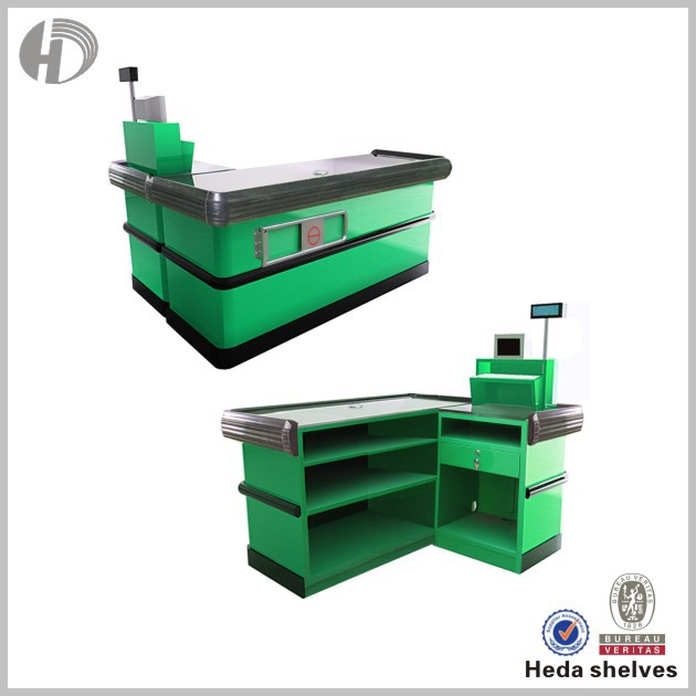 green supermarket checkout counter equipment cash checkout