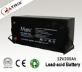 Good quality Solar energy storage 12V 200AH battery