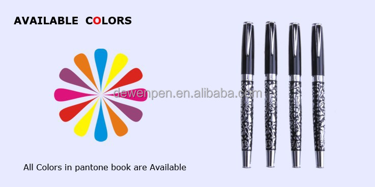 Metal Elegant Free Ink Roller Ball Pen