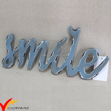 SMILE wall hanging Handmade pieces vintage wood sign decors