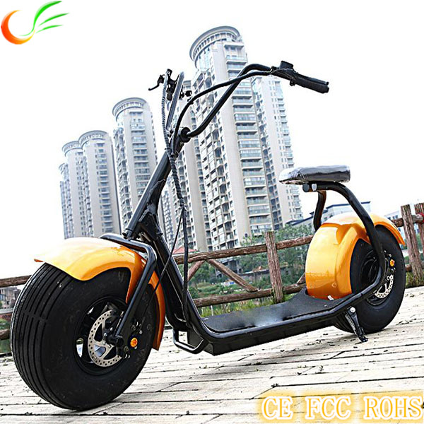 New Design Hydraulic Disc Brakes Fat Tire 1500w Electric Motorcycle