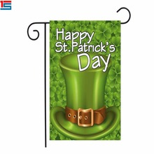 Wholesale Happy St. Patrick's Day pride Christianity festival decoration green garden flag
