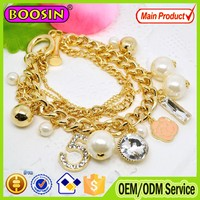 Golden logo charm chain bracelet accessories #31481