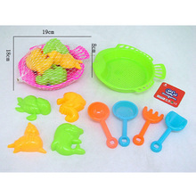 9pcs Summer Trends children Educational Sand beach toy with shovel