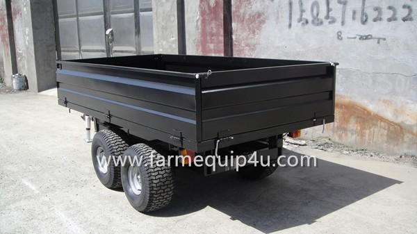 4-wheel Dump Trailer Agriculture Tractor Trailer 3Ton