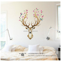 SK9003 Free Shipping Deer Head Wall Stickers, Wall Decal Deer Head Decor for Your Lodge, Cabin, Modern Home