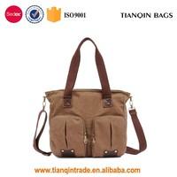 Latest Boys And Girls Wide Strap College Student Shoulder Bag Canvas Handbag