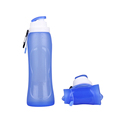 Hot sale Travel silicone water bottle in outdoor collapsible leakproof sport water bottle