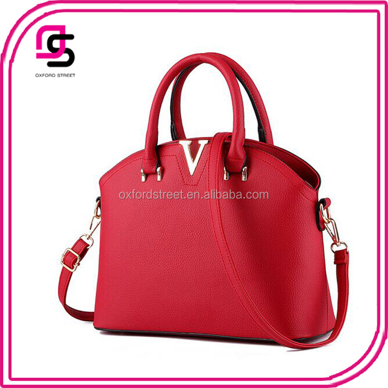 alibaba China suppliers promotional top quality fashion leather handbag pu shoulder bag woman/lady handbag