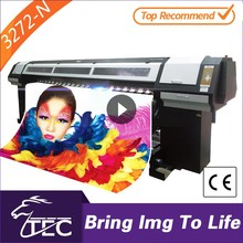 outdoor 3.2m large inkjet advertising plotter eco solvente