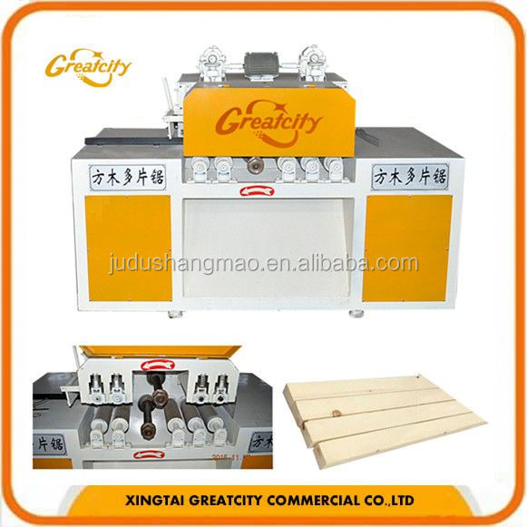 square multiple saw Multi Rip saw with out ball bearing wood saw machine