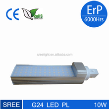 2600k Clear/milky cover Dimmable gx24q 3 led light