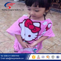 2016 Best selling China factory children beautiful hooded bath towel