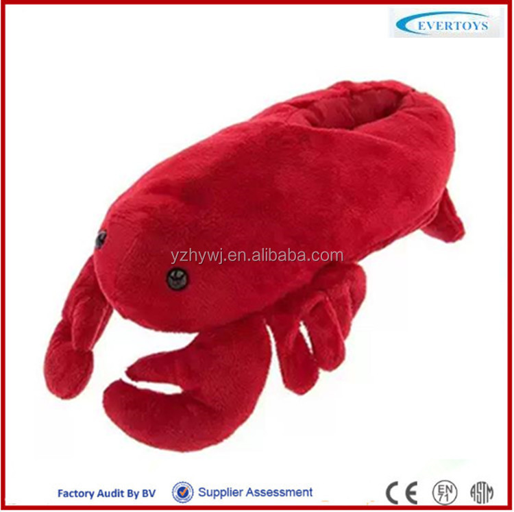 cheap fashion slipper plush toy slipper slipper lobster