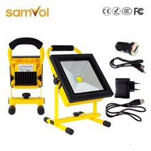 portable rechargeable emergency led stand work light 10w 20w 30w 50w