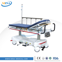 MINA-ST003 with CPR handle emergency hand hydraulic trolley stretcher