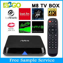 New Smart tv box 2G/8G Dual band WiFi Amlogic S802 quad core android 4.4 ott tv box m8 k200 firmware