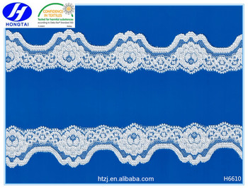 China factory hot sell stretch trim fabric nylon lacing spandex katan saree lace for lingerie bridal dressing